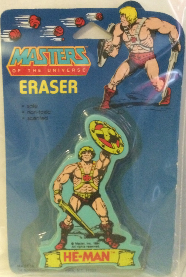 (TAS000199) - Masters of the Universe Eraser - He-Man, , Eraser, MOTU, The Angry Spider Vintage Toys & Collectibles Store