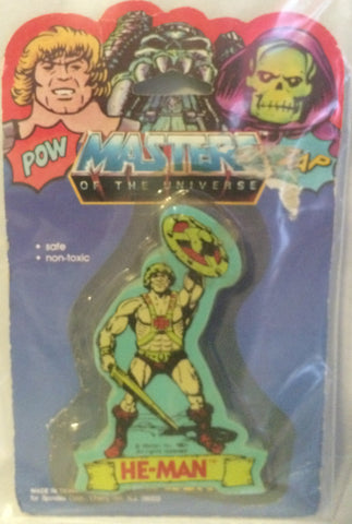 (TAS000207) - Masters of the Universe Eraser - He-Man, , Eraser, MOTU, The Angry Spider Vintage Toys & Collectibles Store
