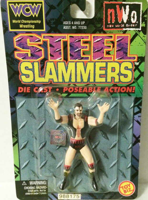 (TAS000215) - 1999 Toy Biz WCW Wrestling Steel Slammers Figure - Scott Hal, , Action Figure, Wrestling, The Angry Spider Vintage Toys & Collectibles Store
