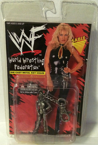 (TAS000217) - WWF WWE Wrestling Die-Cast Keychain - Sable, , Keychain, Wrestling, The Angry Spider Vintage Toys & Collectibles Store