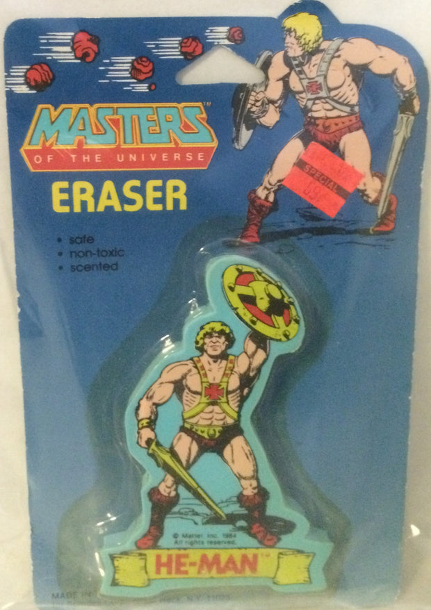 (TAS000245) - Masters of the Universe Eraser - He-Man, , Eraser, MOTU, The Angry Spider Vintage Toys & Collectibles Store