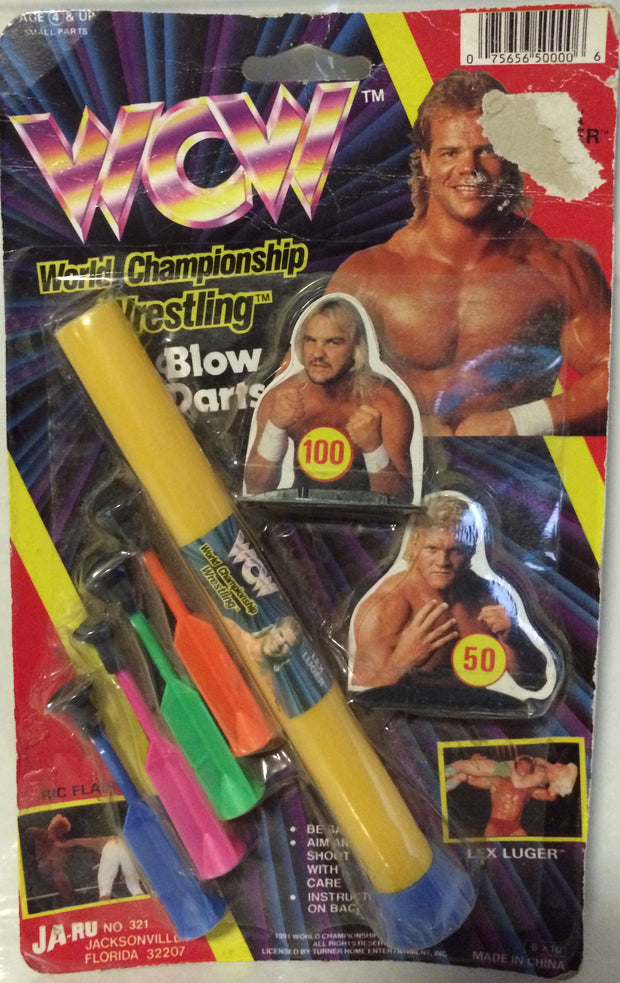 (TAS000475) - Ja-Ru WCW Wrestling Blow Darts Set - Luger, Windham, Sid, Flair, , Games, Wrestling, The Angry Spider Vintage Toys & Collectibles Store