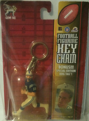 (TAS000489) - QB Club Football Figurine Keychain - Peyton Manning NFL, , Keychain, NFL, The Angry Spider Vintage Toys & Collectibles Store