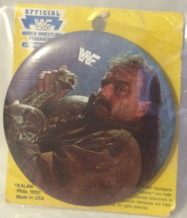 (TAS000535) - New WWF WCW nWo Button - Jake the Snake Roberts, , Button, Wrestling, The Angry Spider Vintage Toys & Collectibles Store
