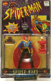 (TAS000661) - 1996 Toy Biz Marvel Spider-man Spider-Wars Figure - Dr. Strange, , Action Figure, Spiderman, The Angry Spider Vintage Toys & Collectibles Store