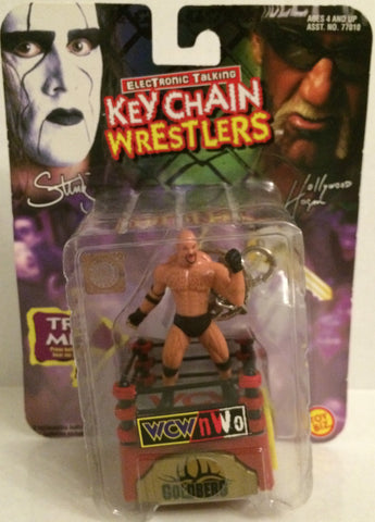 (TAS031992) - Toy Biz WCW Wrestling Electronic Talking Keychain - Goldberg, , Keychain, Wrestling, The Angry Spider Vintage Toys & Collectibles Store