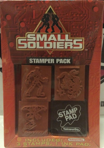 (TAS000673) - 1998 Universal Small Soldiers Stamper Pack - 3 Stamps & 1 Ink Pad, , Stamper, Universal, The Angry Spider Vintage Toys & Collectibles Store