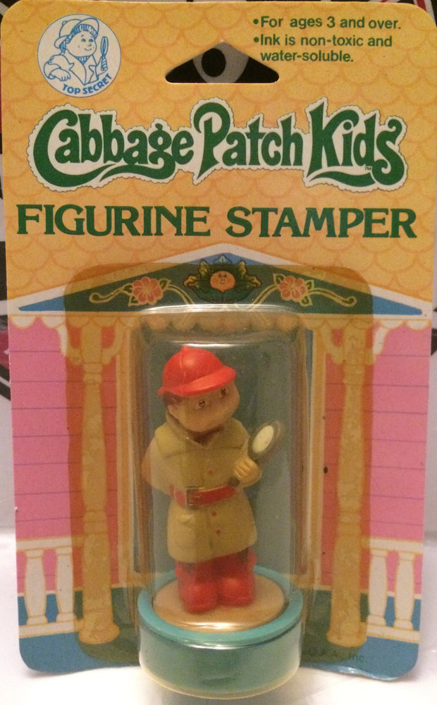 (TAS000674) - 1984 Cabbage Patch Kids Figurine Stamper - Boy Detective, , Stamper, Cabbage Patch Kids, The Angry Spider Vintage Toys & Collectibles Store