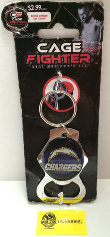 (TAS000687) - Cage Fighter San Diego Chargers NFL Keychain / Bottle Opener, , Key Chain, NFL, The Angry Spider Vintage Toys & Collectibles Store