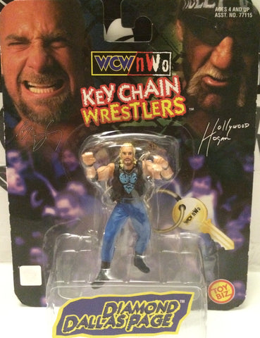 (TAS000718) - 1998 Toy Biz WCW Key Chain Wrestler - Diamond Dallas Page, , Keychain, Wrestling, The Angry Spider Vintage Toys & Collectibles Store