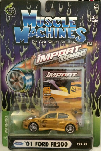 (TAS030207) - 2002 Muscle Machines Die Cast Car '01 Ford FR200 Import Tuner, , Cars, Muscle Machine, The Angry Spider Vintage Toys & Collectibles Store