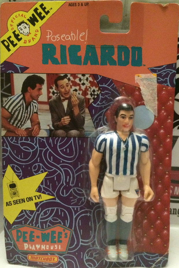 (TAS000821) - 1988 Matchbox Pee Wee Herman Poseable Figure - Ricardo, , Action Figure, Matchbox, The Angry Spider Vintage Toys & Collectibles Store