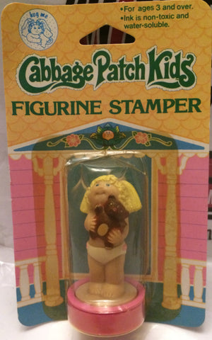 (TAS000914) - 1984 Cabbage Patch Kids Stamper - Blonde Girl with Teddy Bear, , Stamper, Cabbage Patch Kids, The Angry Spider Vintage Toys & Collectibles Store