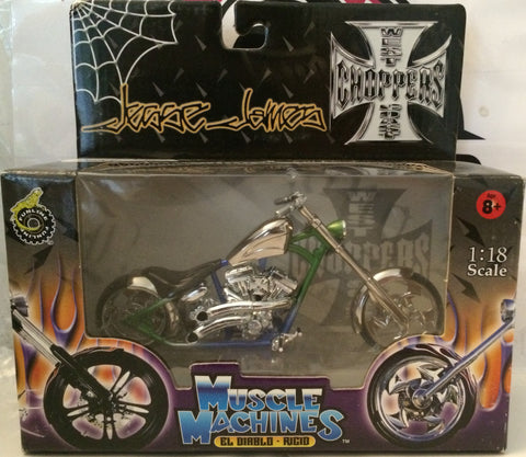 (TAS030220) - 2003 Muscle Machines 1:18 Scale Jesse James EL DIABLO - RICIO, , Trucks & Cars, Muscle Machine, The Angry Spider Vintage Toys & Collectibles Store