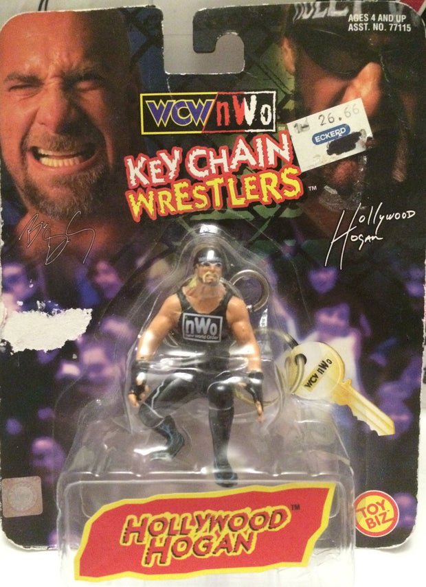 (TAS000952) - 1998 Toy Biz WCW Key Chain Wrestler - Hollywood Hogan, , Keychain, Wrestling, The Angry Spider Vintage Toys & Collectibles Store