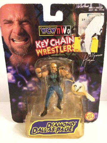(TAS031999) - Toy Biz WCW nWo Wrestling Keychain - Diamond Dallas Page, , Keychain, Wrestling, The Angry Spider Vintage Toys & Collectibles Store