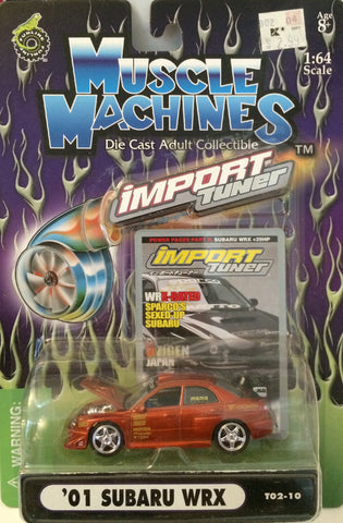 (TAS030225) - 2002 Muscle Machines Die-Cast Import Tuner '01 Subaru WRX, , Trucks & Cars, Muscle Machine, The Angry Spider Vintage Toys & Collectibles Store