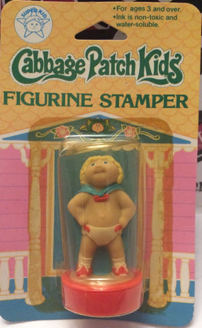 (TAS001019) - 1984 Cabbage Patch Kids Figurine Stamper - Blonde Child with Cape, , Action Figure, Cabbage Patch Kids, The Angry Spider Vintage Toys & Collectibles Store