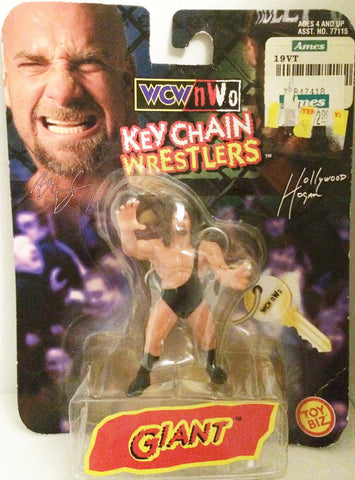 (TAS032001) - Toy Biz WCW nWo Wrestling Keychain - Giant / Big Show, , Keychain, Wrestling, The Angry Spider Vintage Toys & Collectibles Store