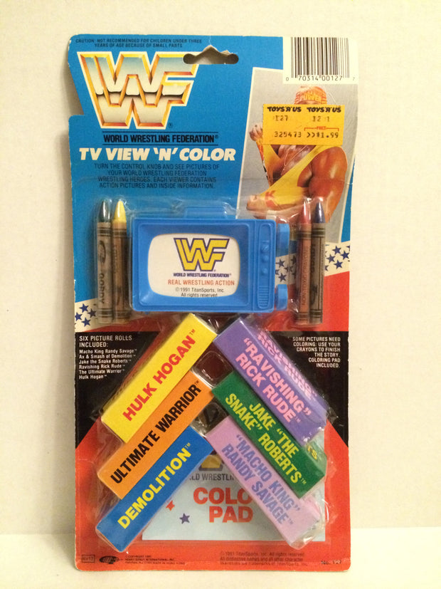 (TAS032002) - 1991 Titan Sports WWF WWE Wrestling TV View 'N' Color - Hulk Hogan, , Game, Wrestling, The Angry Spider Vintage Toys & Collectibles Store
