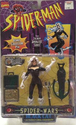 (TAS001098) - 1996 Toy Biz Marvel Spider-Man Spider-Wars Figure - Black Cat, , Action Figure, Wrestling, The Angry Spider Vintage Toys & Collectibles Store