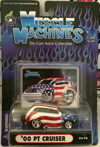 (TAS030233) - 2002 Muscle Machines Die Cast '00 PT Cruiser 1:64 Scale - The Angry Spider Vintage Toys & Collectibles Store