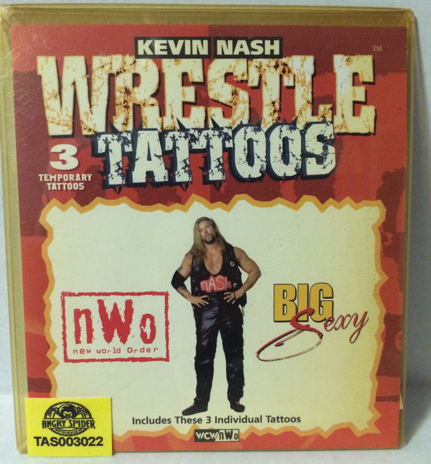 (TAS003022) - WCW WWF nWo Kevin Nash Wrestle Tattoos, , tattoo, Wrestling, The Angry Spider Vintage Toys & Collectibles Store