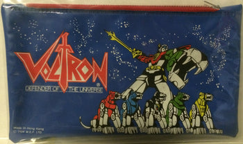 (TAS003032) - Bandai Voltron Defender of the Universe Pencil Pouch, , Pencil, Voltron, The Angry Spider Vintage Toys & Collectibles Store