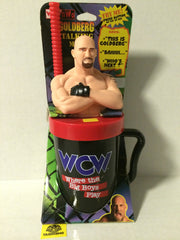 (TAS003040) - WCW WWF nWo Talking Mug - Goldberg, , Drinkware, Wrestling, The Angry Spider Vintage Toys & Collectibles Store