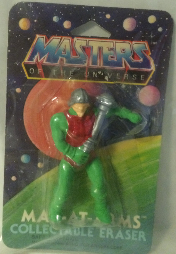 (TAS003103) - Masters of the Universe Man-At-Arms Collectable Eraser, , Eraser, MOTU, The Angry Spider Vintage Toys & Collectibles Store