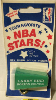 (TAS003241) - NBA Boston Celtics Keychain Action Viewer - Larry Bird, , Keychain, NBA, The Angry Spider Vintage Toys & Collectibles Store