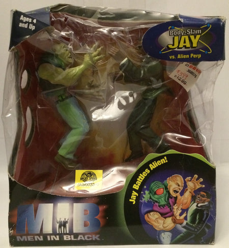 (TAS030150) - 1997 Galoob MIB Men In Black Body Slam Jay vs. Alien Perp, , Dolls, Galoob, The Angry Spider Vintage Toys & Collectibles Store  - 1