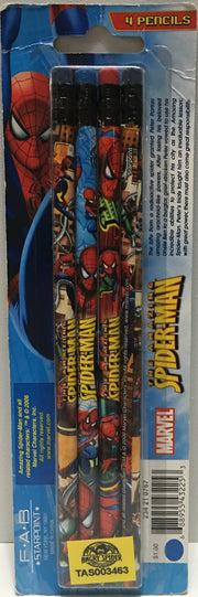 (TAS003463) - 2006 Marvel The Amazing Spider-Man Pencils - 4 Pack, , Pencils, Spiderman, The Angry Spider Vintage Toys & Collectibles Store  - 2