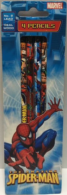 (TAS003463) - 2006 Marvel The Amazing Spider-Man Pencils - 4 Pack, , Pencils, Spiderman, The Angry Spider Vintage Toys & Collectibles Store  - 1