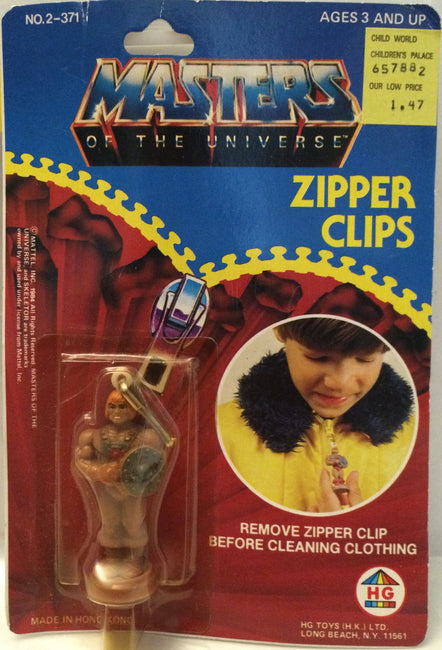 (TAS003470) - 1984 Masters Of The Universe (He-Man) (MOTU) Mattel - Zipper Clips, , TV, Movie & Video Games, MOTU, The Angry Spider Vintage Toys & Collectibles Store  - 1