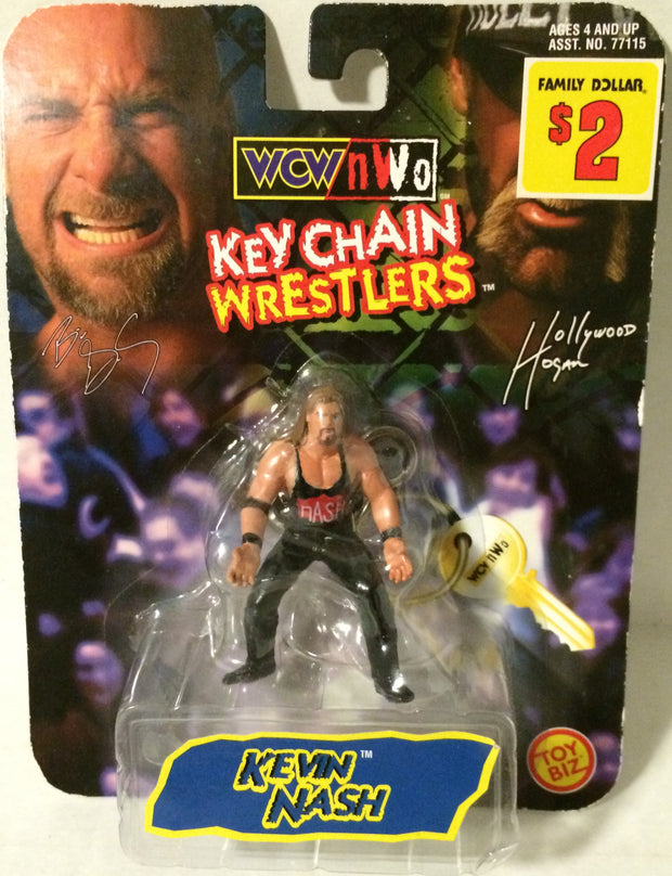 (TAS003506) - Toy Biz WCW nWo Wrestling Keychain - Kevin Nash, , Keychain, Wrestling, The Angry Spider Vintage Toys & Collectibles Store