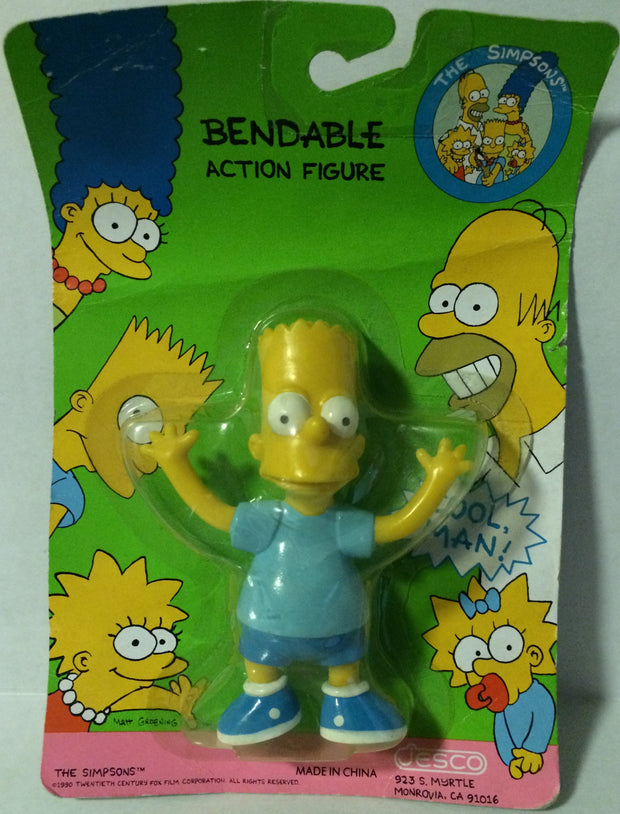 (TAS003542) - 1990 Jesco The Simpsons Bendable Action Figure - Bart, , Action Figure, The Simpsons, The Angry Spider Vintage Toys & Collectibles Store