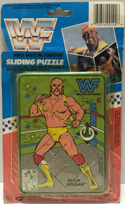 (TAS003557) - 1991 Titan Sports WWF Wrestling Sliding Puzzle Hulk Hogan, , Puzzle, Wrestling, The Angry Spider Vintage Toys & Collectibles Store  - 1