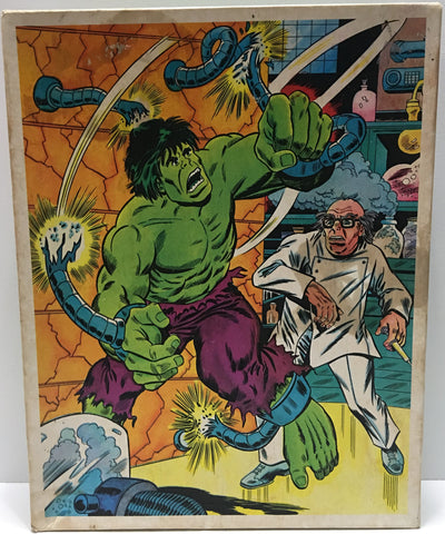 (TAS003559) - Vintage Marvel The Incredible Hulk Jigsaw Puzzle, , Puzzle, Marvel, The Angry Spider Vintage Toys & Collectibles Store  - 1