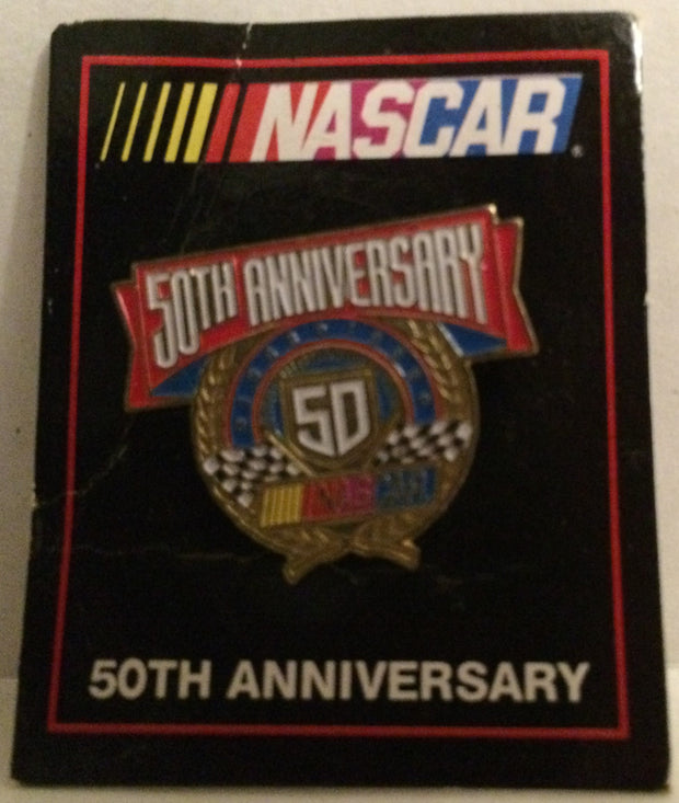 (TAS032006) - Nascar Vintage Nascar 50th Anniversary Collectors Lapel Pin, , Pins, Nascar, The Angry Spider Vintage Toys & Collectibles Store
