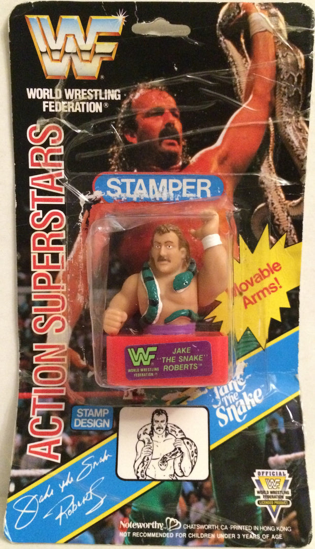 (TAS032010) - Noteworthy WWF WWE Wrestling Superstars Stamper - Jake The Snake, , Stampers, Wrestling, The Angry Spider Vintage Toys & Collectibles Store