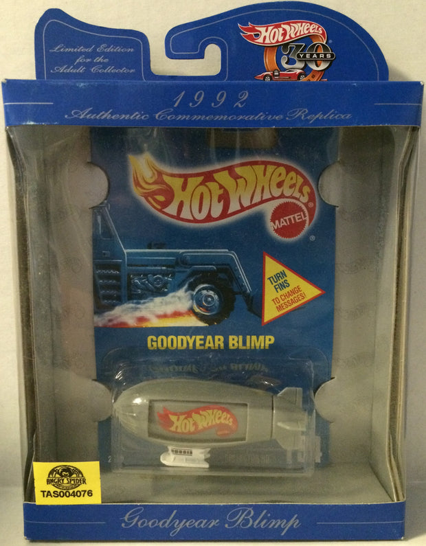 (TAS004076) - Mattel Hot Wheels 1992 Die-Cast Replica Goodyear Blimp, , Trucks & Cars, Hot Wheels, The Angry Spider Vintage Toys & Collectibles Store