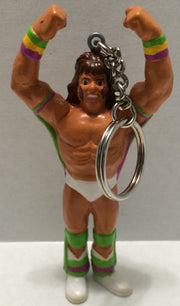 (TAS004175) - WWE WWF WCW Wrestling Keychain - Ultimate Warrior, , Key Chain, Wrestling, The Angry Spider Vintage Toys & Collectibles Store