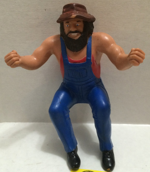 (TAS004414) - WWE WWF WCW Wrestling Thumb Wrestler Figure - Hillbilly Jim, , Action Figure, Wrestling, The Angry Spider Vintage Toys & Collectibles Store