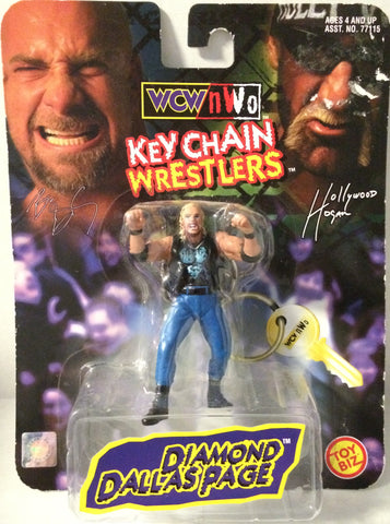 (TAS032104) - Toy Biz WCW nWo Wrestling Keychain - Diamond Dallas Page WWE, , Keychain, Wrestling, The Angry Spider Vintage Toys & Collectibles Store