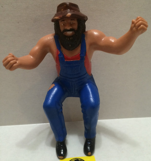 (TAS004474) - WWE WWF WCW Wrestling Thumb Wrestler Figure - Hillbilly Jim, , Action Figure, Wrestling, The Angry Spider Vintage Toys & Collectibles Store