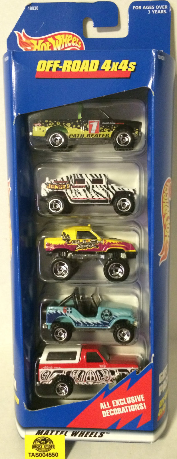 (TAS004550) - 1997 Mattel Hot Wheels Off-Road 4x4s Gift Pack Die-Cast, , Trucks & Cars, Hot Wheels, The Angry Spider Vintage Toys & Collectibles Store