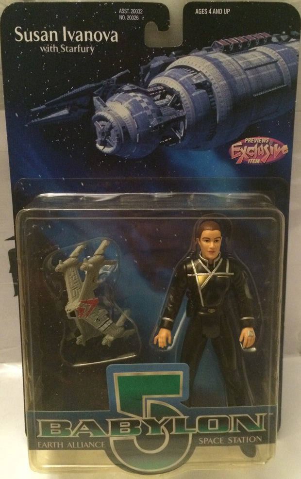 (TAS004597) - Babylon 5 Earth Alliance Space Station Figure - Susan Ivanova, , Action Figure, n/a, The Angry Spider Vintage Toys & Collectibles Store