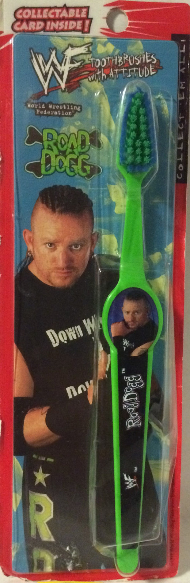 (TAS004753) - 1999 WWF WWE Wrestling Toothbrush - Road Dogg (DX), , Bath, Wrestling, The Angry Spider Vintage Toys & Collectibles Store