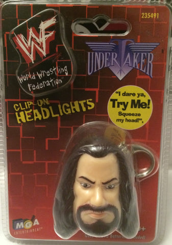 (TAS004868) - WWE WWF WCW Wrestling Clip-On Headlights Key Chain - Undertaker, , Key Chain, Wrestling, The Angry Spider Vintage Toys & Collectibles Store
